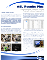 ASL Results Plus Brochure