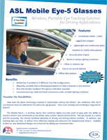 ASL Mobile Eye-5 Driving Brochure