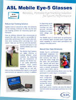 ASL Mobile Eye-5 Sports Brochure