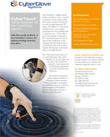 CyberGlove Systems CyberTouch Brochure