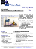 Haption IFS Robotic Brochure