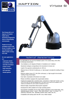 Haption Virtuose 6D Brochure