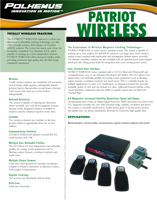 Polhemus PATRIOT WIRELESS Brochure