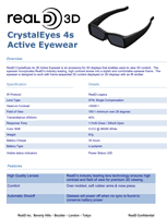 RealD Crystal Eyes 4S Brochure