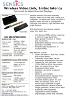 Sensics Low-Latency Wireless Link Brochure