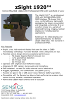 Sensics zSight 1920 Helmet-Mount Brochure