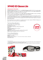 XPAND 3D Glasses Lite Brochure
